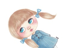A Blythe doll illustration