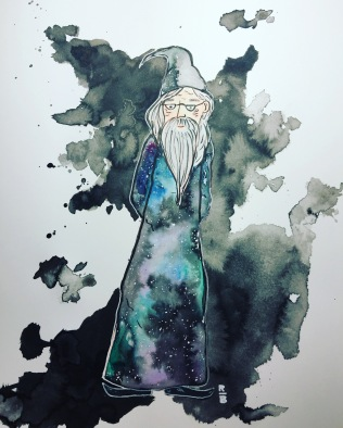 inktober Dumbledore