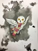inktober Hedwig