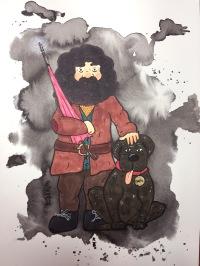 inktober Hagrid