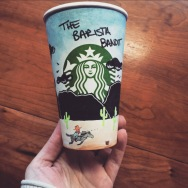 Starbucks Cup design... Barista Bandit