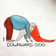 Gnomaste Downward Dog
